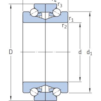 Сверхточный подшипник BTW 100 CTN9/SP