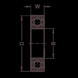 Высокотемпературный подшипник 6300 BHTS ZZ GR CG 350°