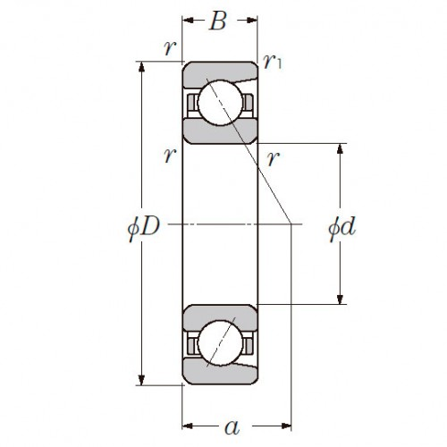 Радиально-упорный однорядный шариковый подшипник 36216 Л 7216 CM