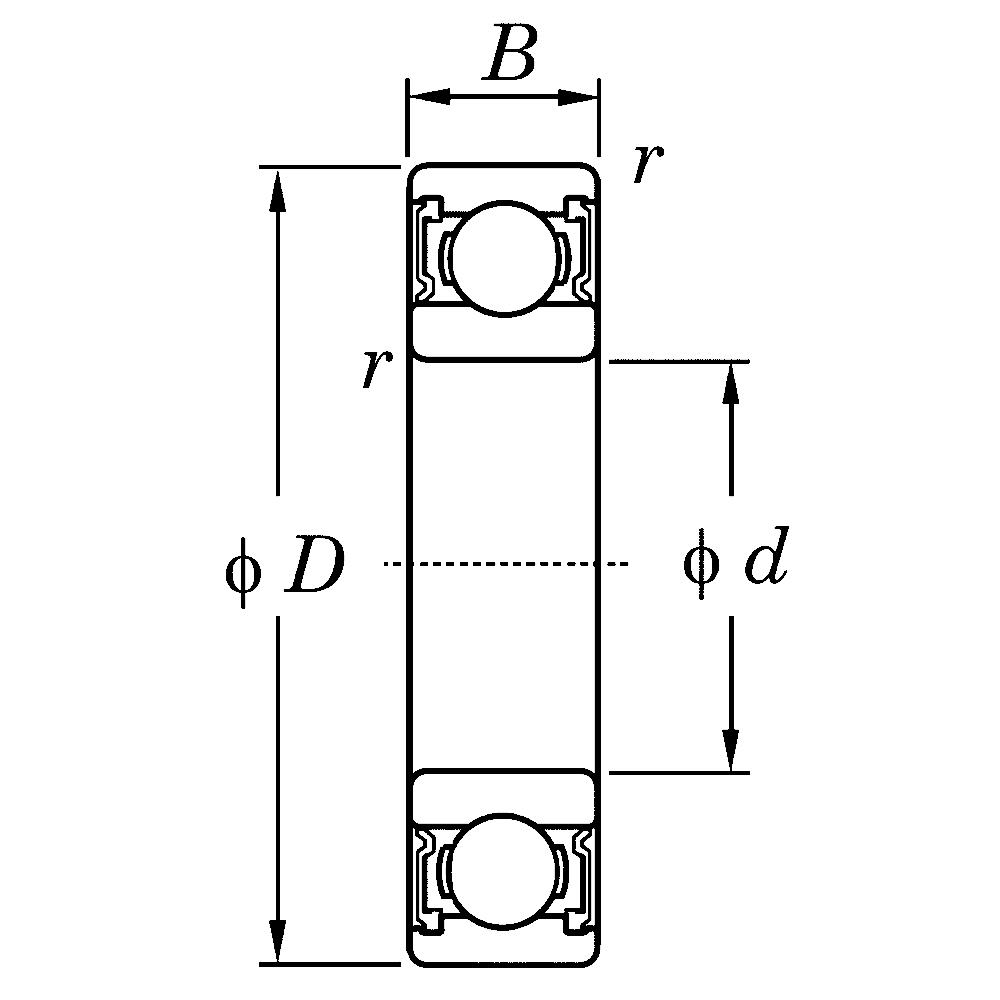 Дюймовые подшипники типа R KLNJ3/4-2RSR R 12 2RS