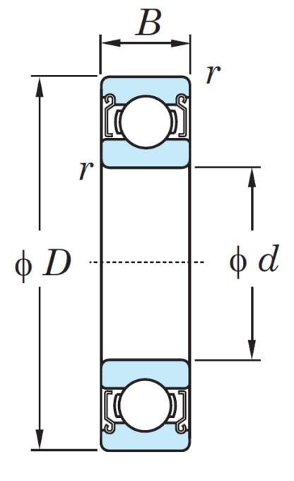 Однорядный шариковый подшипник 6313 ZZ CM
