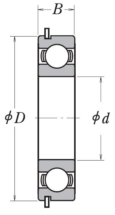 Однорядный шариковый подшипник 6313 NR C3