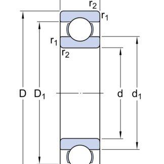Однорядный шариковый подшипник 61856 MA/C4S1