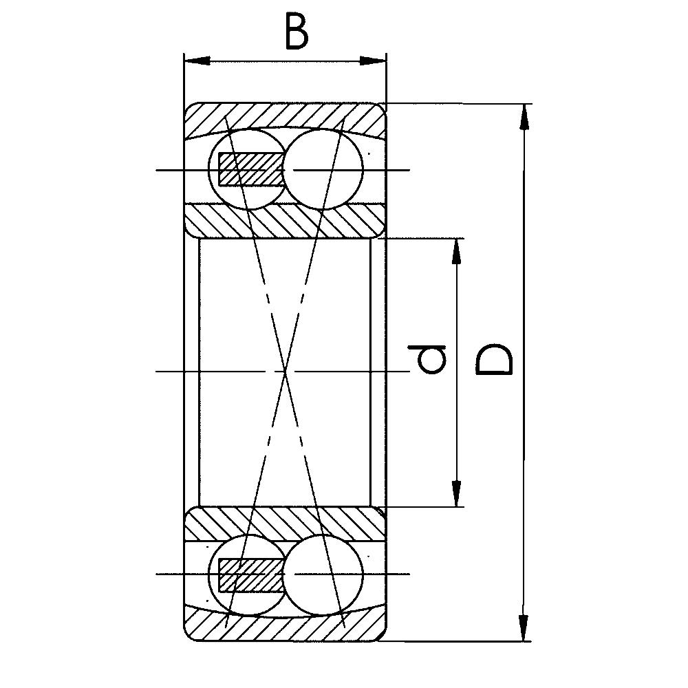 Двухрядный шариковый подшипник 1616 Л 2316 M