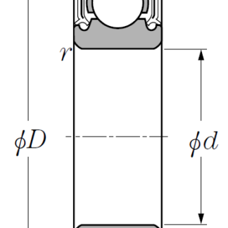 Однорядный шариковый подшипник 6022 LLU/2AS