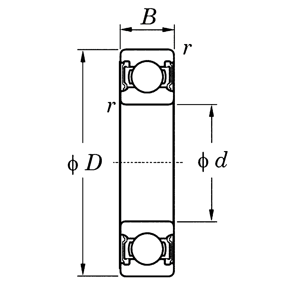 Однорядный шариковый подшипник 6016 ZZ CM