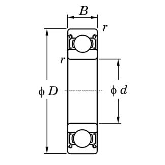 Однорядный шариковый подшипник 6218 ZZ C3