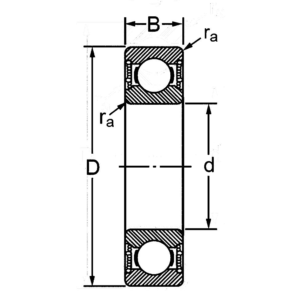 Радиальный однорядный шариковый подшипник 6-180318 С17