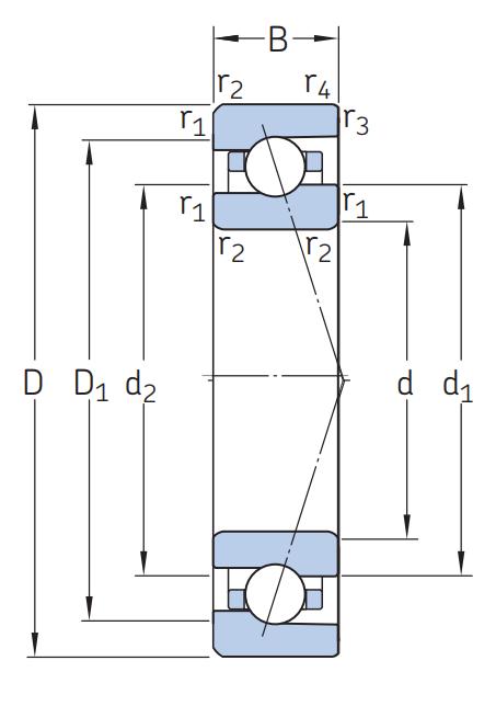 Сверхточный подшипник 706 CE/HCP4ADGA