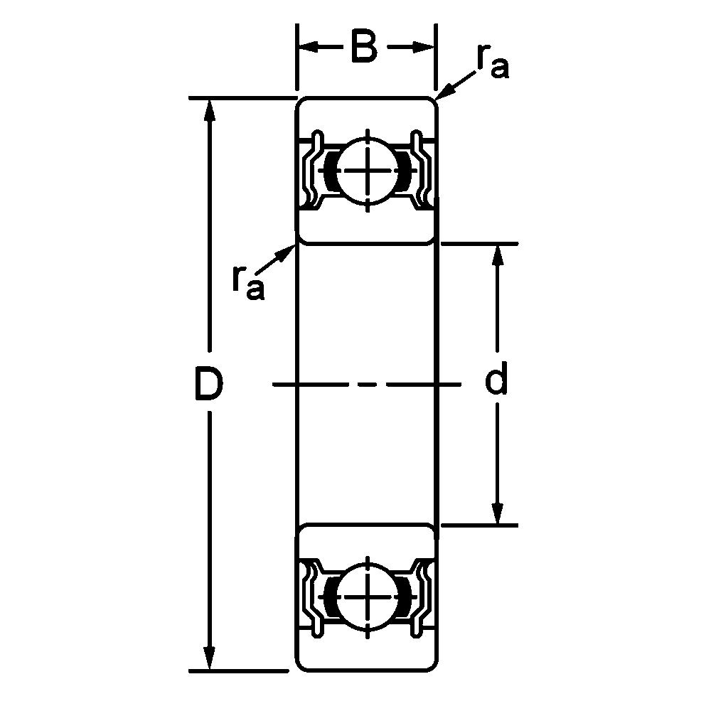 Однорядный шариковый подшипник 6222 ZZ 80222