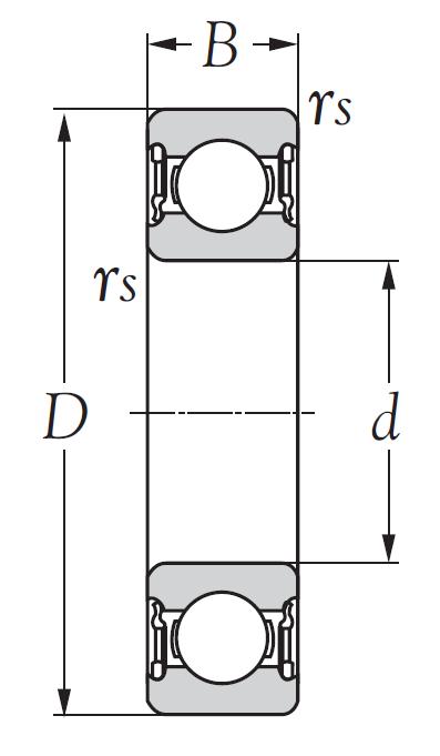 Однорядный шариковый подшипник 6219 DDU CM
