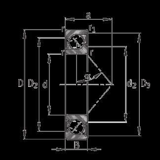 Однорядный шариковый подшипник 7306 B 2RS TVP