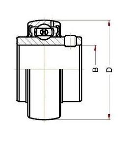 Высокотемпературный корпусной подшипник UC 206 BHTS ZZ 280° BECO