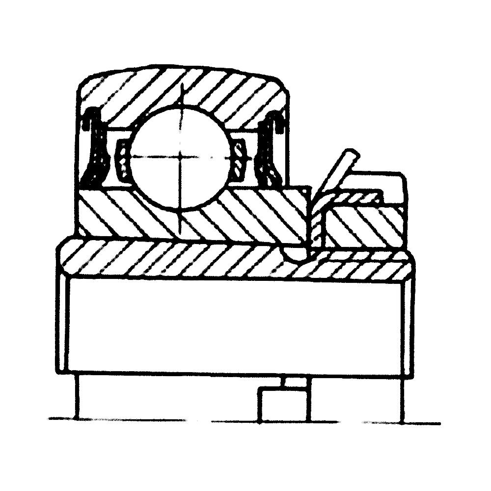 Однорядный шариковый подшипник UH217/70-2S.T 680314