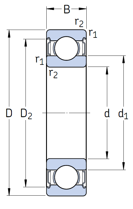Высокотемпературный подшипник 6206 2Z/VA228