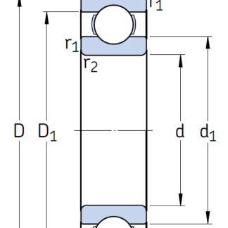 Однорядный шариковый подшипник 6230 M/C3