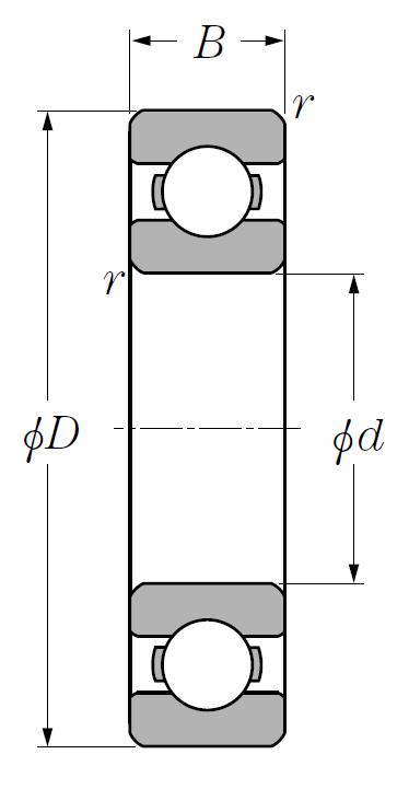Однорядный шариковый подшипник 6020 C3