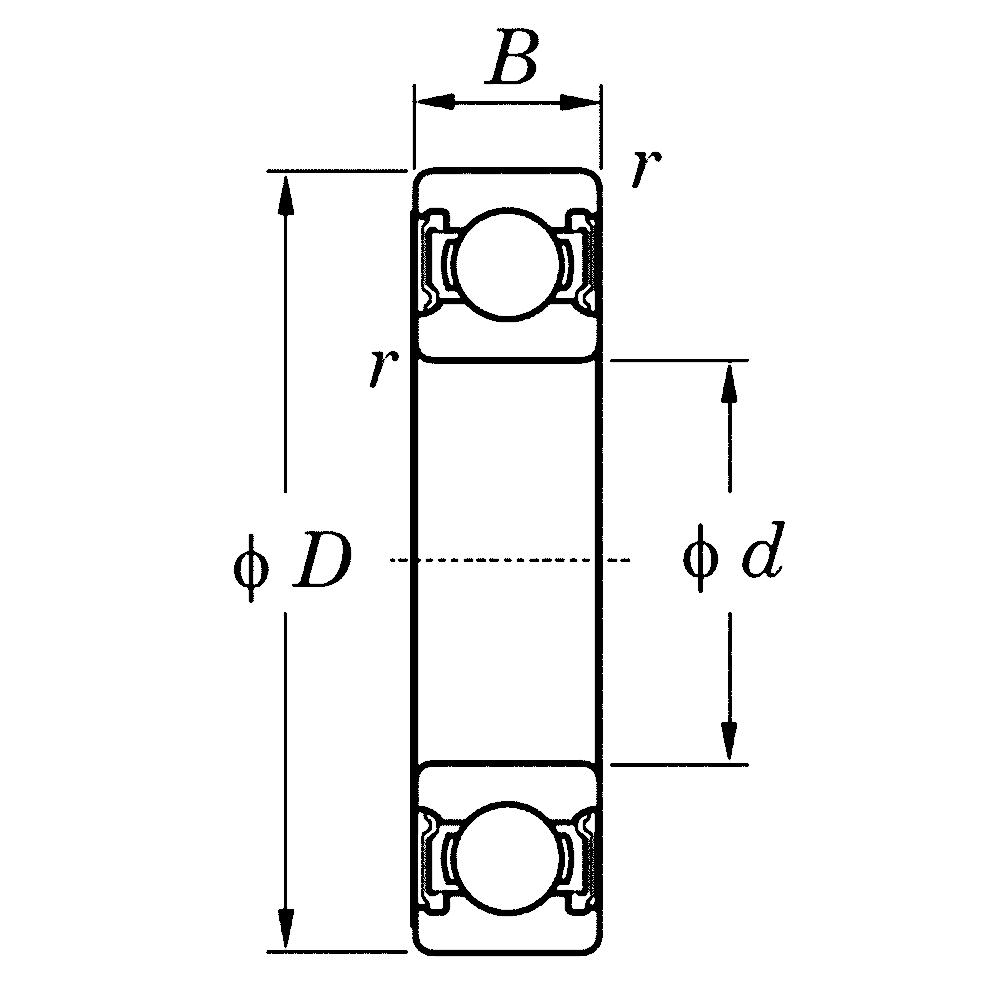Однорядный шариковый подшипник 6019 ZZ C3