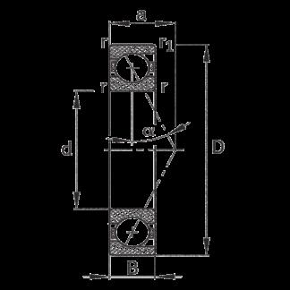 Сверхточный подшипник HCS 7005 C-T-P4S-UL