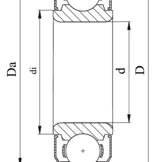 Однорядный шариковый подшипник 80209 Ю SS 6209 ZZ
