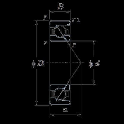 Однорядный шариковый подшипник 7016 FY 46116 Л