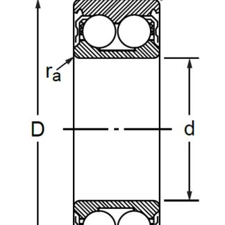 Радиально-упорный двухрядный шариковый подшипник 3056212 3212 ATN