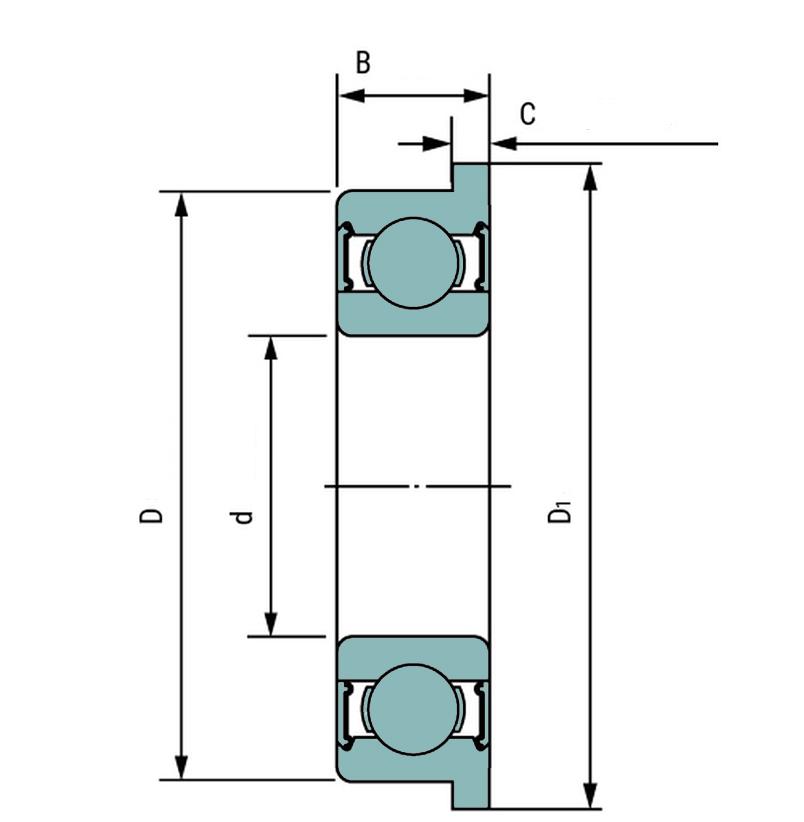 Радиальный однорядный шариковый подшипник SER 210 FK