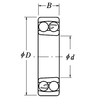 Двухрядный шариковый подшипник 1212 K