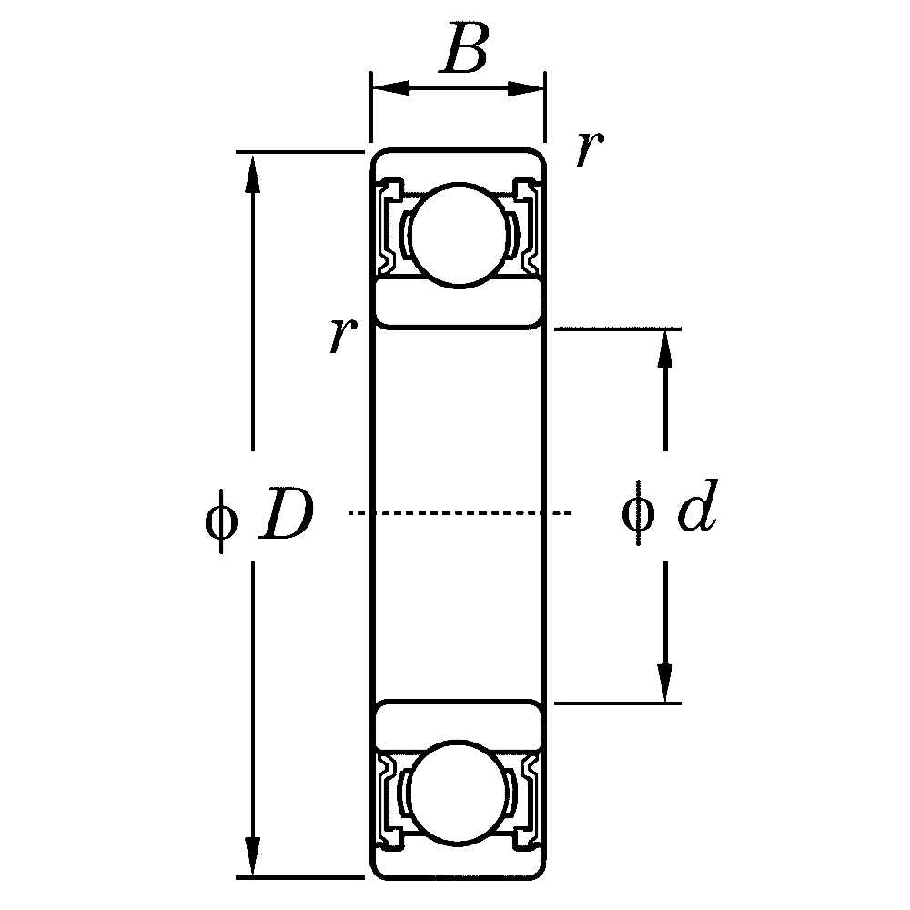 Дюймовые подшипники типа R KLNJ5/8-2RSRY R 10 2RS