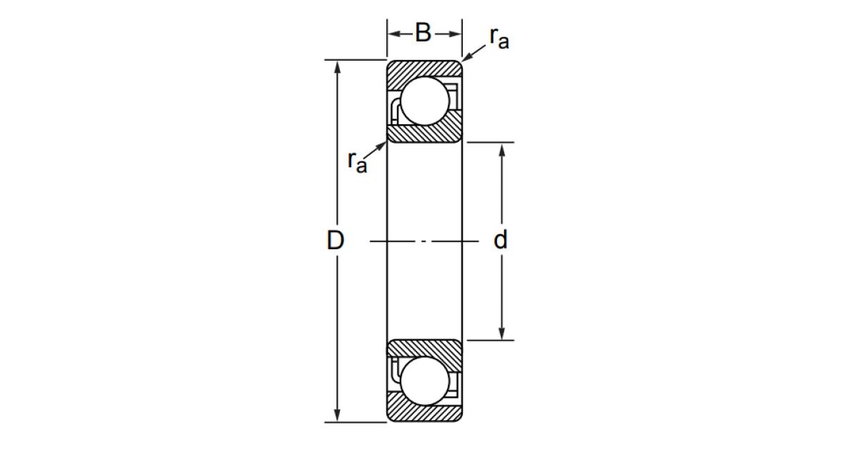 Радиально-упорный однорядный шариковый подшипник 36317 7317 C