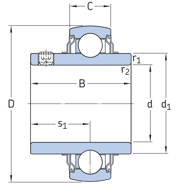 Высокотемпературный подшипник YAR 204 2FW/VA228