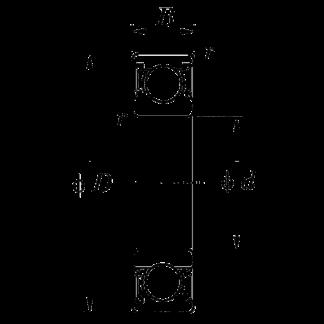 Дюймовые подшипники типа R KLNJ1/2-2RS R 8 2RS