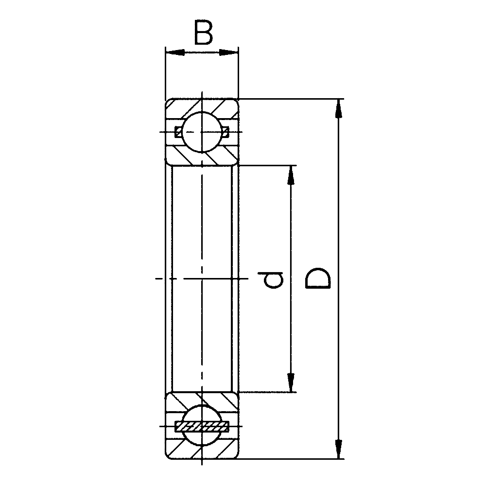Однорядный шариковый подшипник 6844 M 1000844 Л