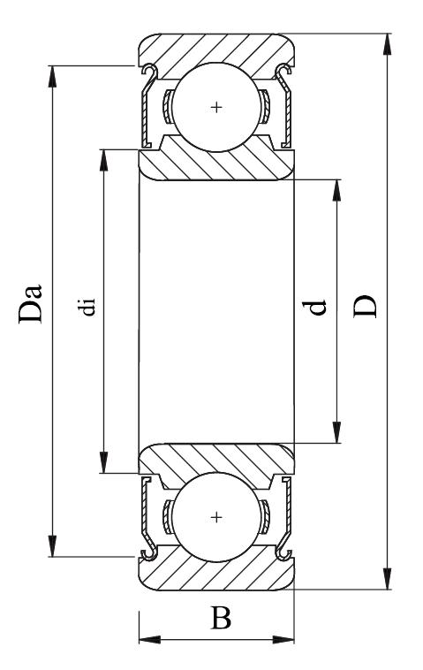 Однорядный шариковый подшипник 80306 Ю SS 6306 ZZ