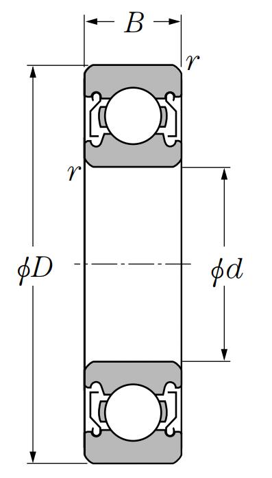 Однорядный шариковый подшипник 6024 ZZ C3