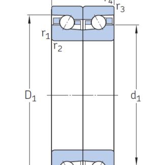 Сверхточный подшипник BAX 100 F-T-P4S-DBL