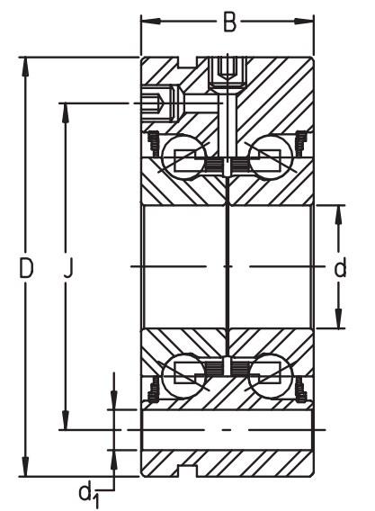 Сверхточный подшипник ZKLF 3080-2RS-PE