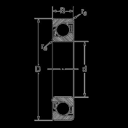 Радиально-упорный шариковый подшипник 7210 B-XL-MP-UA
