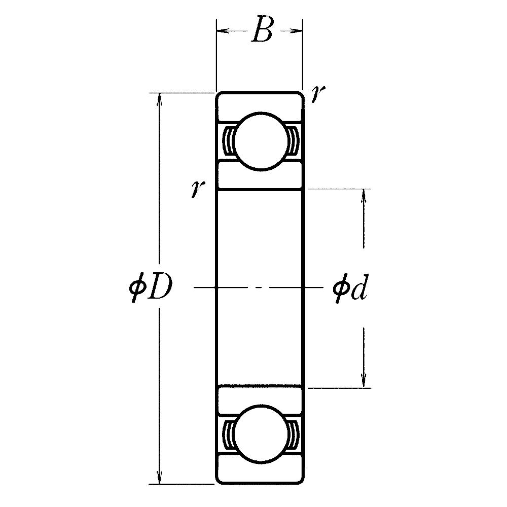 Дюймовые подшипники типа R MJ2-1/2 RMS 20 ZZ