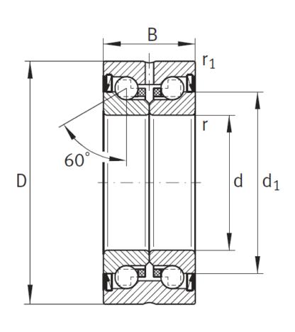 Сверхточный подшипник ZKLN 3572-2RS-2AP-XL