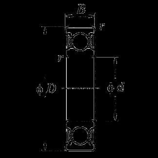 Однорядный шариковый подшипник 6016 ZZ