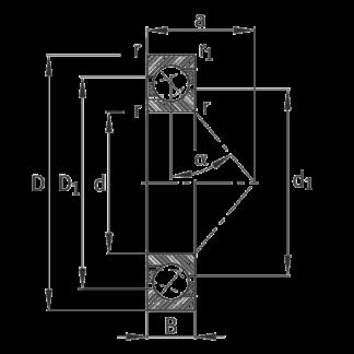 Радиально-упорный шариковый подшипник 7206 B XL TVP P5-UO