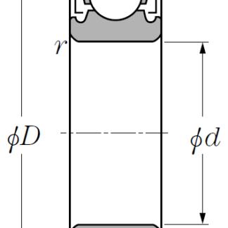 Однорядный шариковый подшипник 6022 ZZ