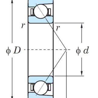 Радиально-упорный однорядный шариковый подшипник 46117-2 Л 7017 ACМ