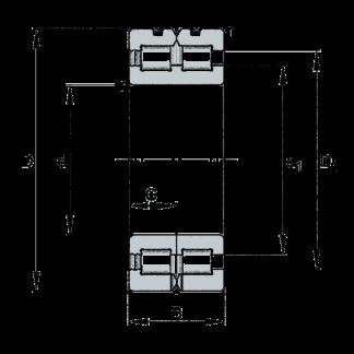 Двухрядный роликовый подшипник SL01 4912 A