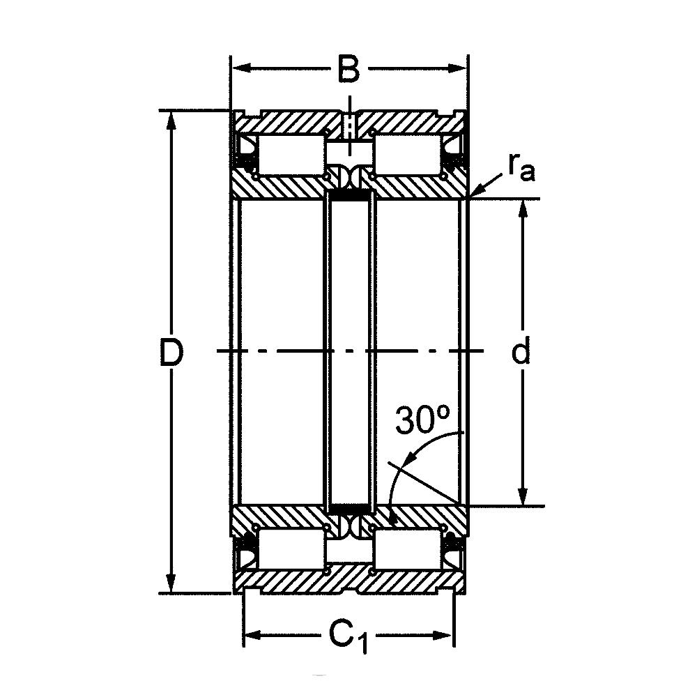 Двухрядный роликовый подшипник SL04 5005 PP