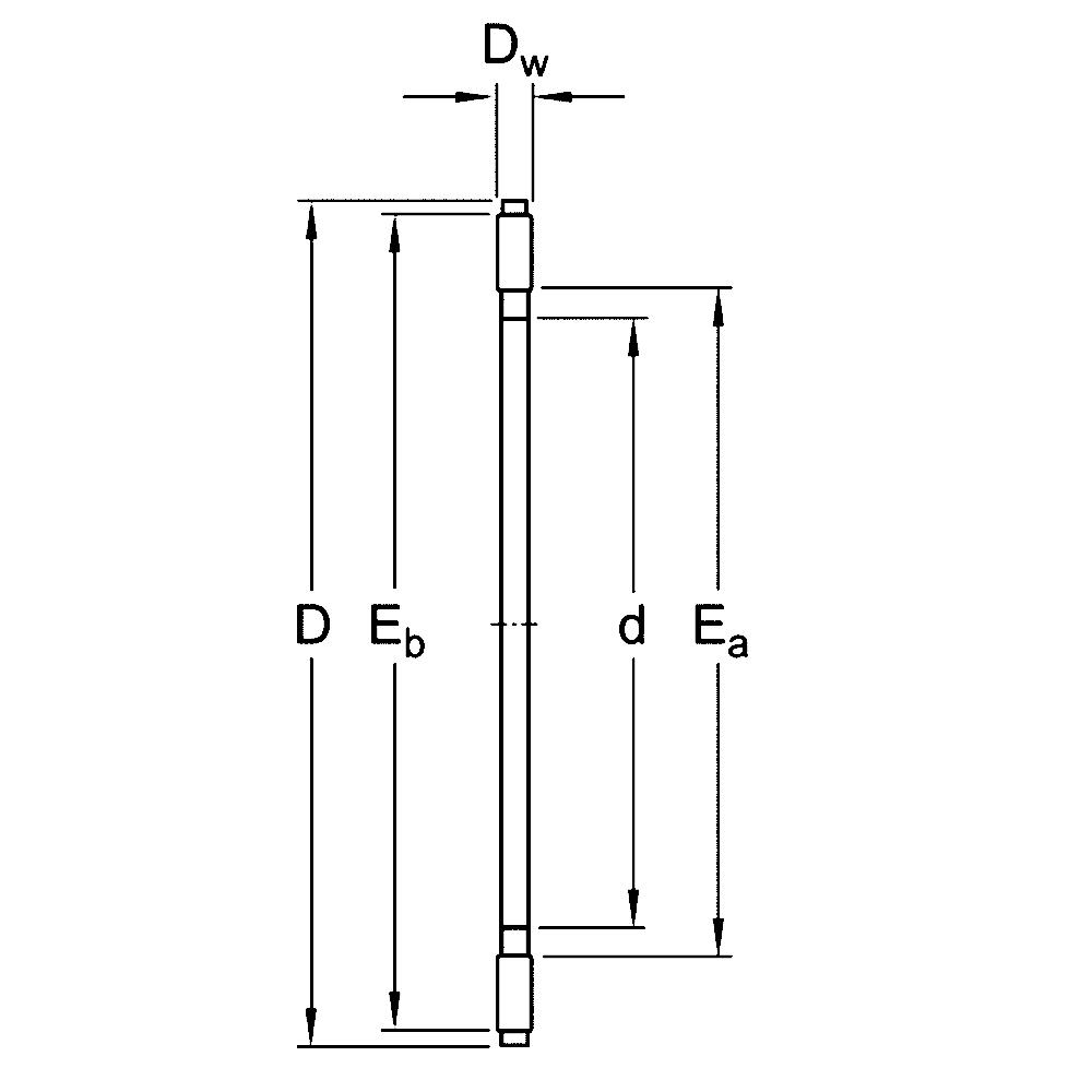 Игольчатый подшипник AXK 110145