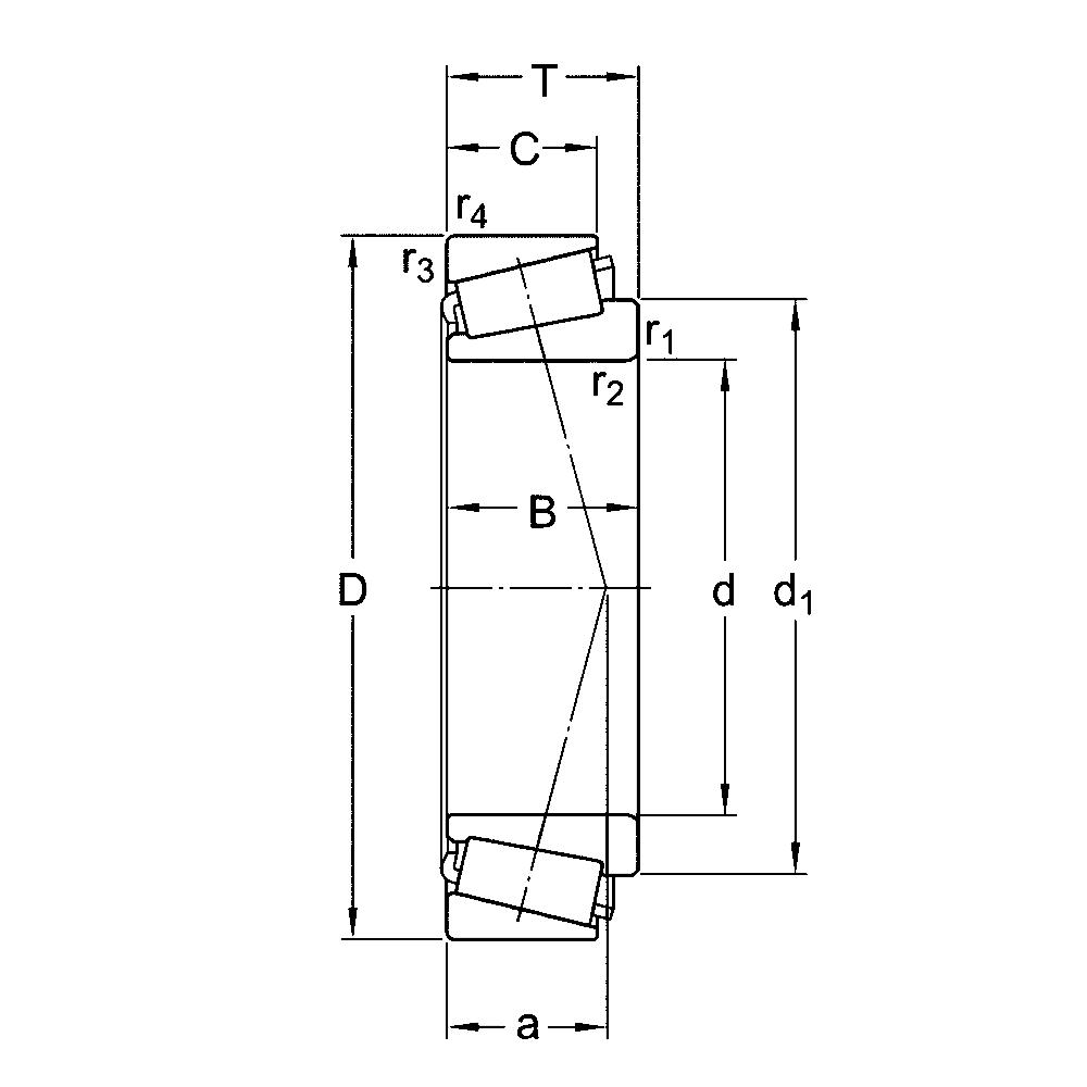 Конический роликовый конический, радиальный подшипник 31306 Конический, радиальный роликовый подшипник 31306 J2/Q
