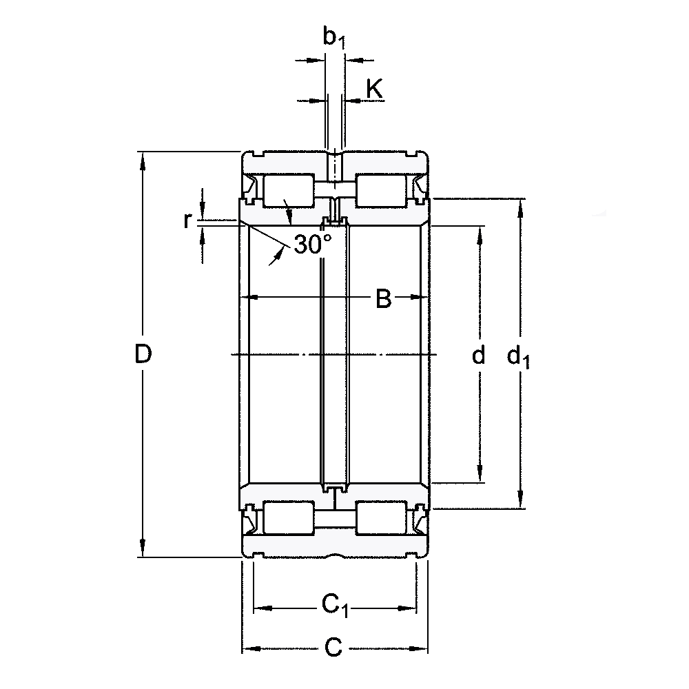 Двухрядный роликовый подшипник NNC 4922 V NKE