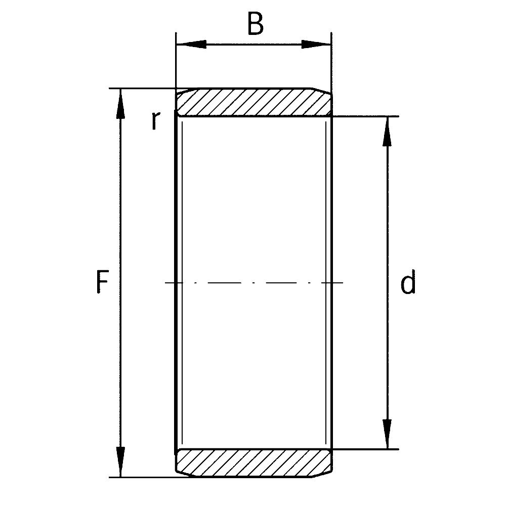 Внутреннее кольцо IR 12X15X22,5-XL